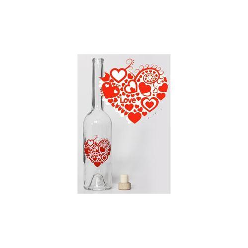 """500ml flaska """"Hjärta i hjärtat"""""""
