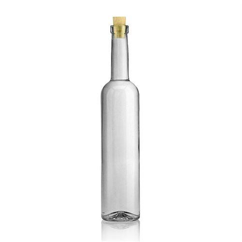 500ml flaske i klart glas Bordeaux, med kravemunding