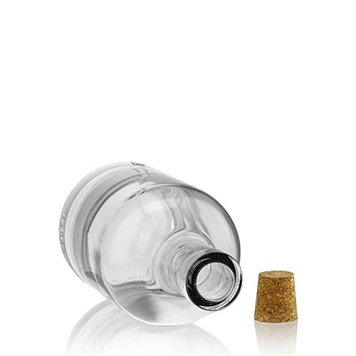 "500ml flaske i klart glas ""Claus"""