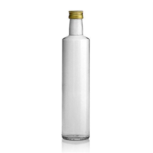 """500ml flaske i klart glas """"Dorica"""""""