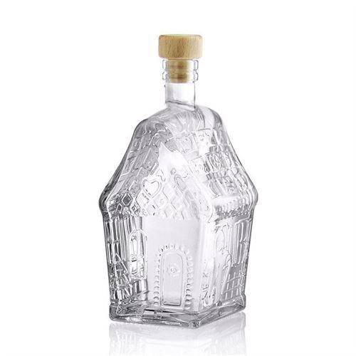 "500ml glass bottle ""gingerbread house"""
