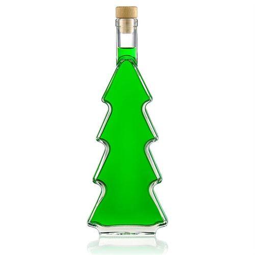 "500ml glazen fles ""Kerstboom"""