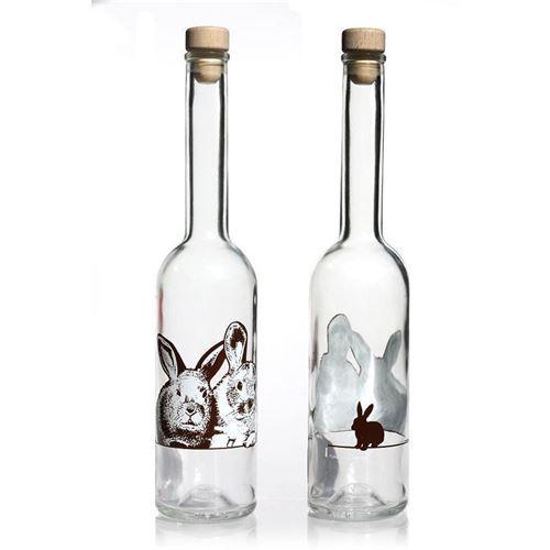 "500ml glazen fles ""konijntje"""