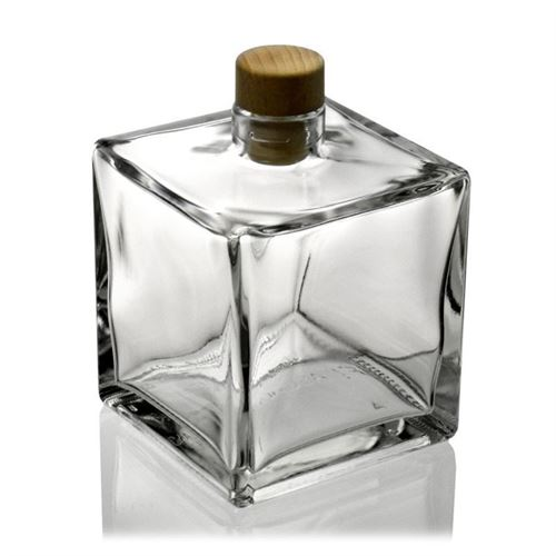"500ml Klarglasflasche ""Cube"""