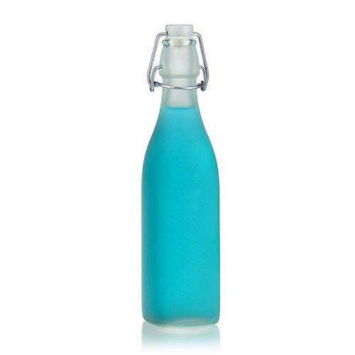 """500ml Bügelverschlussflasche """"Jumper"""" (mattiert)"""