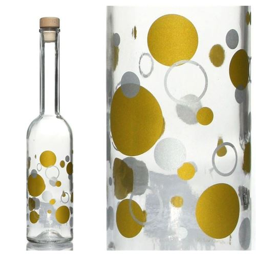 "500ml opera flasche ""silvergold"""
