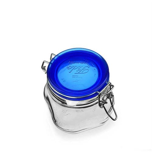"""500ml pot avec fermeture mécanique """"Rocco Blue"""""""