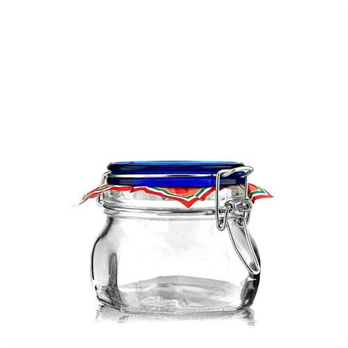 "500ml swing top jar ""Rocco Blue"""