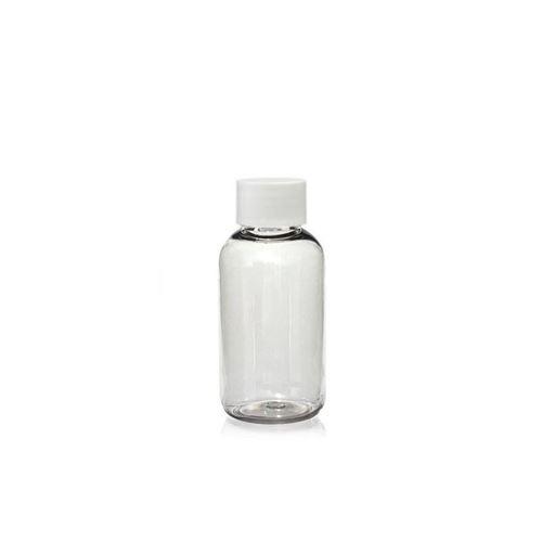 """50ml Bottiglia PET """"Boston"""" bianco"""