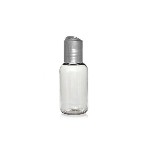 "50ml PET-Flasche ""Boston"" DiscTop silber"