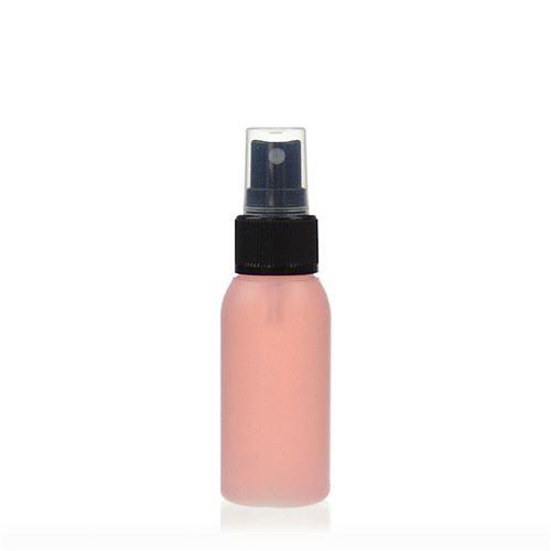 """50ml bottiglia HDPE """"Tuffy"""" natura/nero con erogatore spray"""