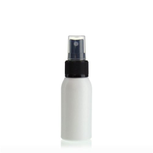 """50ml bottiglia HDPE """"Tuffy"""" nero con erogatore spray"""