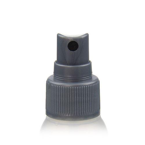 """50ml bouteille HDPE """"Tuffy"""" nature/argente avec tête de pulvérisation"""