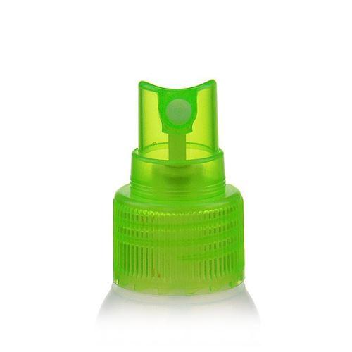 """50ml bouteille HDPE """"Tuffy"""" nature/vert avec tête de pulvérisation"""