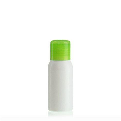 """50ml bouteille HDPE """"Tuffy"""" vert avec couvercle à clapet"""