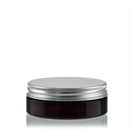 "50 ml brun PET-dåse ""Victor's Best"", aluminiumskruelåg"