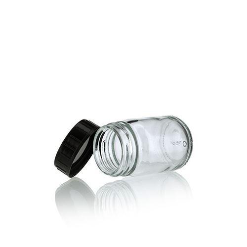 50ml flaske i klart glas, med bred hals