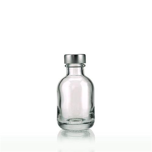 "50ml klar glasflaske ""Lotto"" med GPI-skruelåg"
