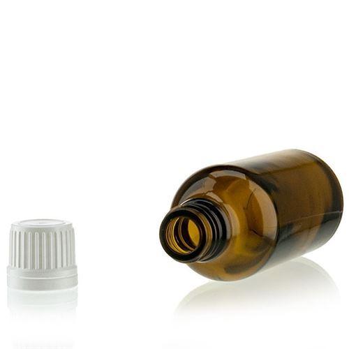 50ml bruin medicijn flesje met originaliteit sluiting