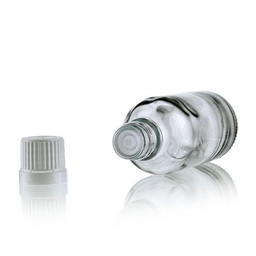 50ml gennemsigtig medicinflaske med dråbetæller