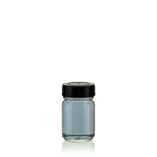 50ml vasetto in vetro trasparente a collo largo DIN40