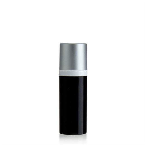 "50ml dispenser ""Airless"" black/silver cap"