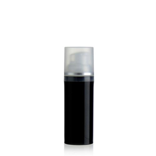 "50ml dispenser ""Airless"" black/silver line"