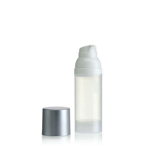 "50ml dispenser ""Airless"" natural/silver cap"