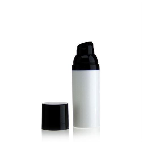 50ml airless pump white/black