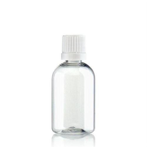 "50ml Bottiglia PET trasparente  ""Easy Living"", chiusura originale"