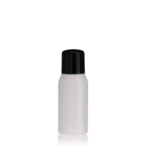 """50ml HDPE-flaske """"Tuffy"""" natur/sort, med sprøjteindsats"""