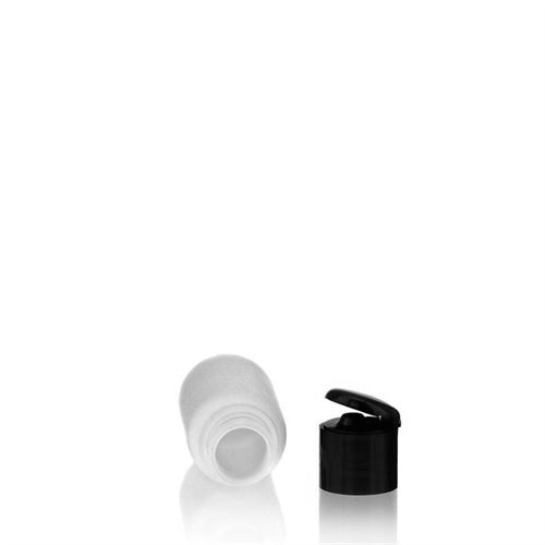 "50ml HDPE-flaske ""Tuffy"" sort, med klaplåg"