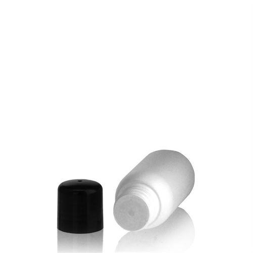 """50ml HDPE-flaske """"Tuffy"""" sort, med sprøjteindsats"""