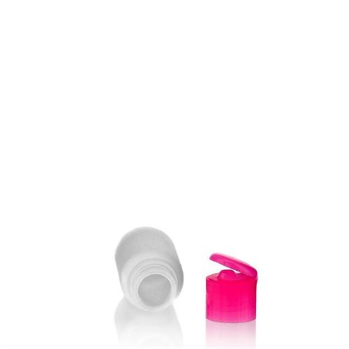 """50ml HDPE bottle """"Tuffy"""" with pink flip top closure"""
