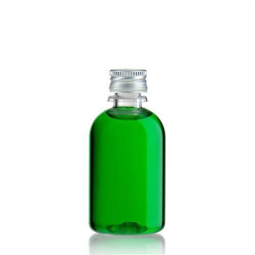 "50ml PET-Flasche-klar ""Easy Living"" mit Aluminiumverschl."
