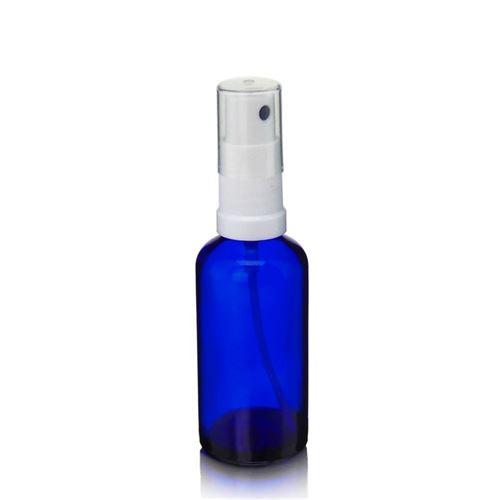 50ml blå medicinflaske, med sprayhoved