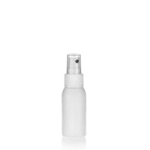 """50ml bottiglia HDPE """"Tuffy"""" bianco con erogatore spray"""