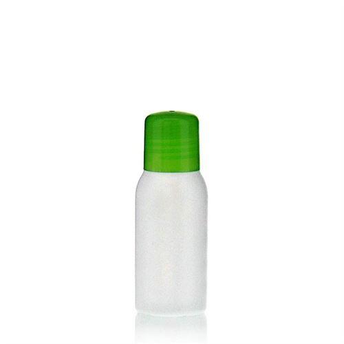 """50ml bottiglia HDPE """"Tuffy"""" verde con chiusura a spruzzo"""