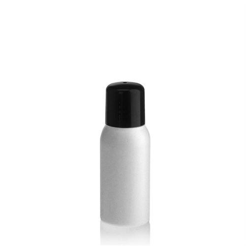 """50ml bottiglia HDPE """"Tuffy"""" nero con chiusura a spruzzo"""