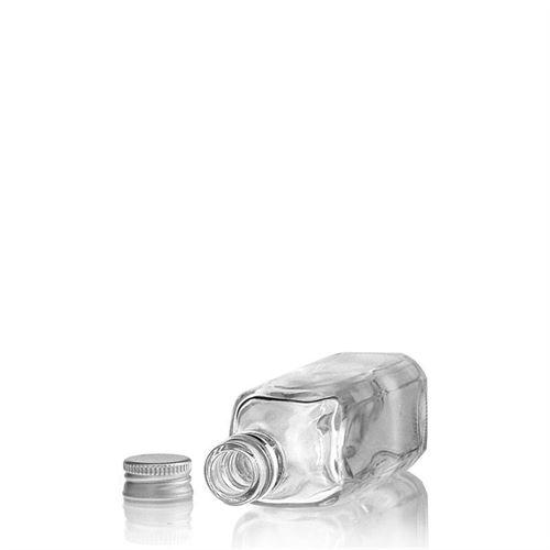 """50ml bottiglia in vetro chiaro """"Siena"""""""