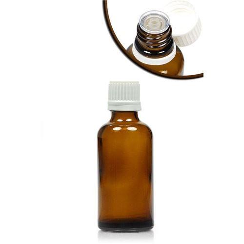 50ml bottiglia medica marrone con contagocce a caduta