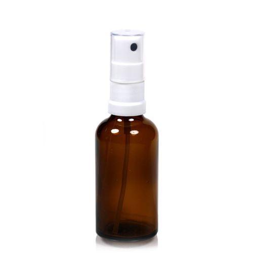 50ml bottiglia  medica marrone con erogatore spray