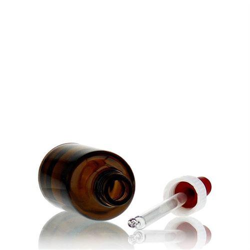 50ml bottiglia per medicina marrone con pipetta
