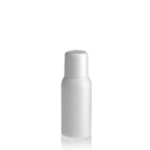 "50ml bouteille HDPE ""Tuffy"" blanc avec doseur"