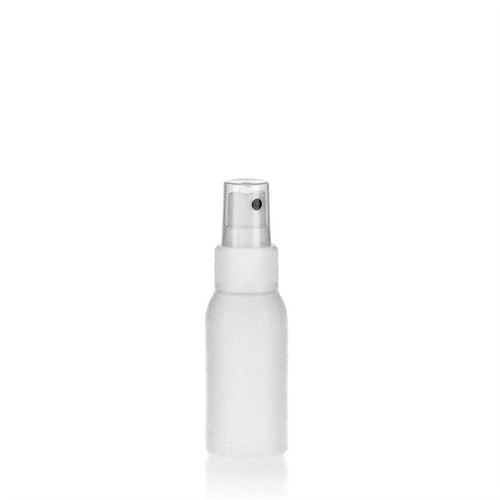 """50ml bouteille HDPE """"Tuffy"""" blanc avec tête de pulvérisation"""