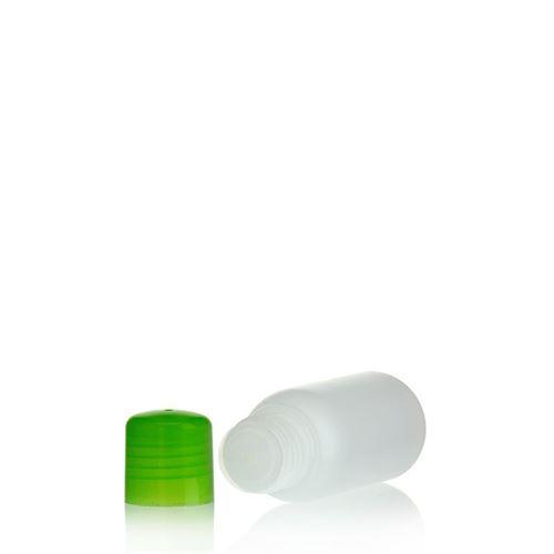 """50ml bouteille HDPE """"Tuffy"""" nature/vert avec doseur"""