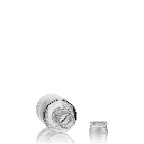 50ml bouteille verre clair gosier droit