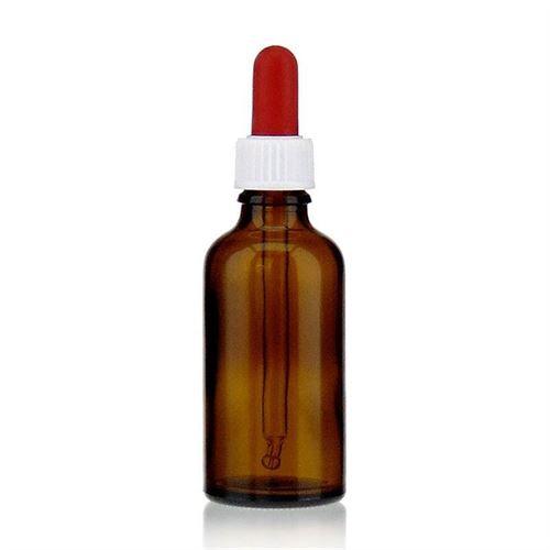50ml bruin medicijn flesje met pipet