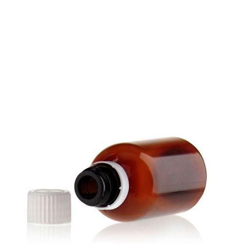 """50ml brun PET-flaska """"Easy Living"""", originalförsegling"""