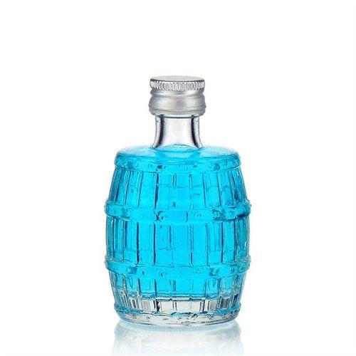"""50ml flaske i klart glas """"Fad"""""""
